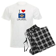 I Love LAUREL Delaware Pajamas
