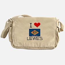 I Love LEWES Delaware Messenger Bag