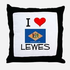I Love LEWES Delaware Throw Pillow