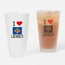I Love LEWES Delaware Drinking Glass