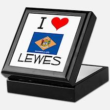I Love LEWES Delaware Keepsake Box