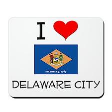 I Love DELAWARE CITY Delaware Mousepad