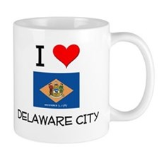 I Love DELAWARE CITY Delaware Mugs