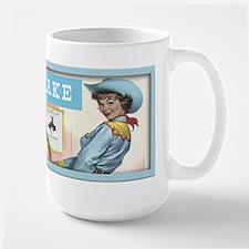 Vintage Pinup Cowgirl Lucky Chaps Mug
