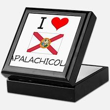 I Love APALACHICOLA Florida Keepsake Box