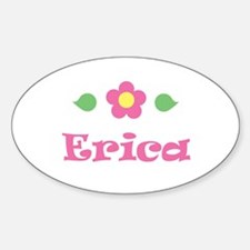 "Pink Daisy - ""Erica"" Oval Decal"