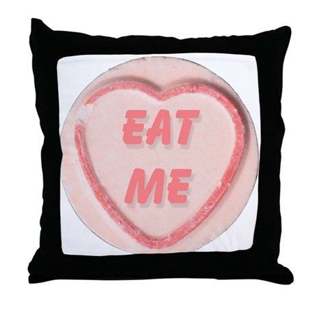 Eat Me Candy Throw Pillow