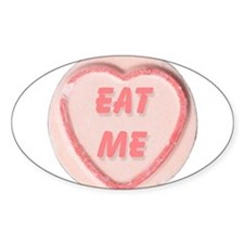 Eat Me Candy Oval Decal