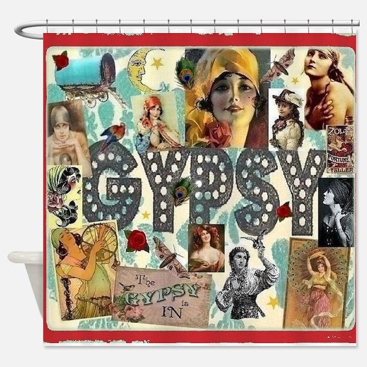 Gypsy Shower Curtains | Gypsy Fabric Shower Curtain Liner