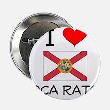 """I Love BOCA RATON Florida 2.25"""" Button"""