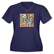 Gypsy Women'S Plus Size V-Neck Dark T-Shirt