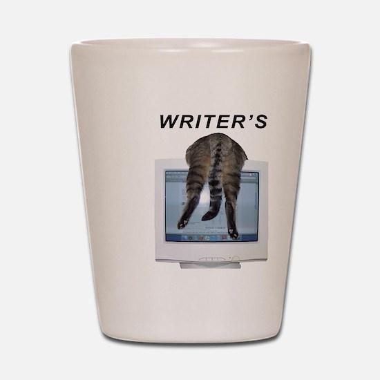 Writer's Block Shot Glass