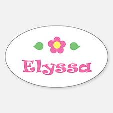 "Pink Daisy - ""Elyssa"" Oval Decal"
