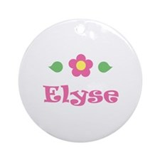 "Pink Daisy - ""Elyse"" Ornament (Round)"