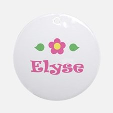"Pink Daisy - ""Elyse"" Ornament (Round)"
