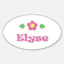 """Pink Daisy - """"Elyse"""" Oval Decal"""