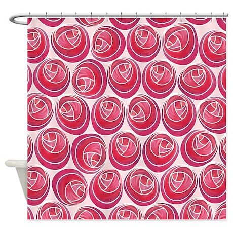 mackintosh roses art nouveau shower curtainartformtheheart