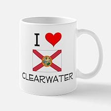 I Love CLEARWATER Florida Mugs