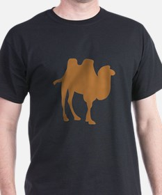 Brown Camel Silhouette T-Shirt