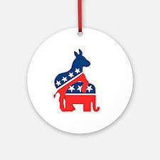 Democrats on Top Ornament (Round)