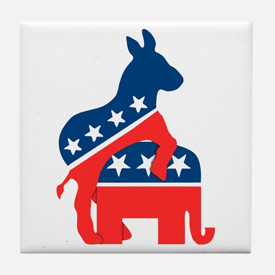 Democrats on Top Tile Coaster