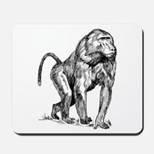 Baboon Sketch Mousepad