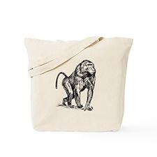 Baboon Sketch Tote Bag