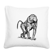 Baboon Sketch Square Canvas Pillow