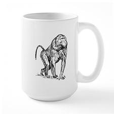Baboon Sketch Mugs