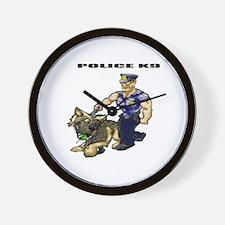 Police K9 Unit Wall Clock