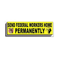 FEDERAL WORKERS Car Magnet 10 x 3