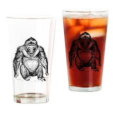 Gorilla Sketch Drinking Glass