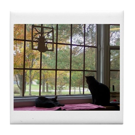 Window View Tile Coaster