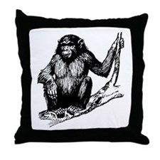 Gorilla In Tree Throw Pillow