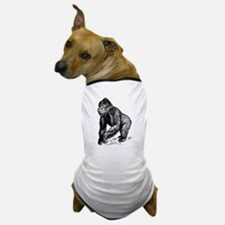 Gorilla Sketch Dog T-Shirt