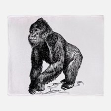 Gorilla Sketch Throw Blanket