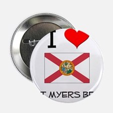 """I Love FORT MYERS BEACH Florida 2.25"""" Button"""