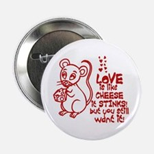 Love Stinks Like Cheese Button
