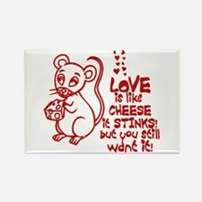 Love Stinks Like Cheese Rectangle Magnet