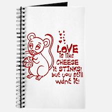 Love Stinks Like Cheese Journal