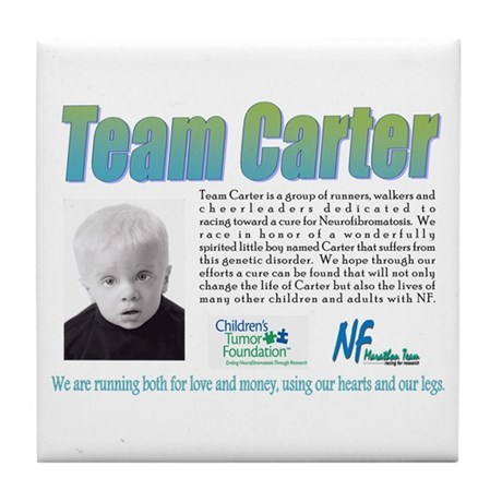 TEAM CARTER Tile Coaster