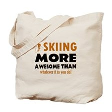 Awesome skiing designs Tote Bag