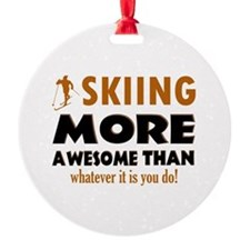 Awesome skiing designs Ornament