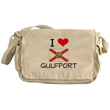 I Love GULFPORT Florida Messenger Bag
