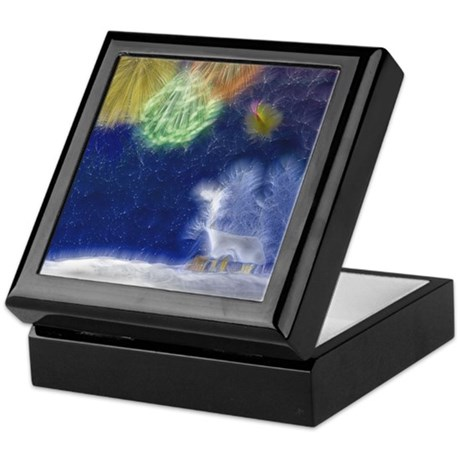 Fractal Winter Landscape Keepsake Box