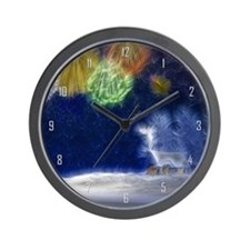 Fractal Winter Landscape Wall Clock