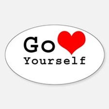 Go Love Yourself Oval Decal