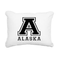 Alaska State Designs Rectangular Canvas Pillow
