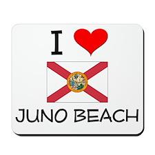 I Love JUNO BEACH Florida Mousepad