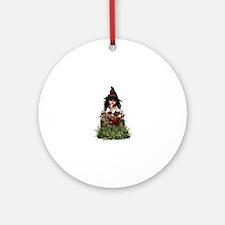 Little Witch ~ Hubble Bubble Round Ornament